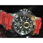 Invicta Mens Rare Excursion Swiss Reserve Chrono Black Dial Red Poly Watch 90046