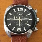 Diesel Men's DZ4296 Overflow Chronograph Black Dial Leather Watch Needs Battery