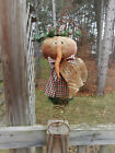 FoLk Art PrimiTive WinTer ChrisTmas SNOWMAN Tree Topper DOLL Holiday DecoraTion
