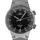 IWC 3537 GST Alarm IW3537 Black Dial Stainless Steel Swiss Automatic Watch