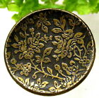 PRETTY VICTORIAN METAL WALLPAPER BUTTON WITH FLORAL DESIGN M82