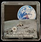 DELUXE EDITION AUTHENTICATED LUNAR METEORITE 12mg Moon Rock Display+Easel er