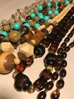 1 Lb VTG Now All Wearable Necklace Costume Jewelry LOT Lucite  Wooden 49