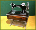 WHIMSICAL~FOLK ART~ ANTIQUE STAINED GLASS~ SINGER TREADLE SEWING MACHINE