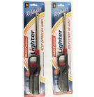 2 Pack BBQ Lighter Refillable Butane Gas Candle Fireplace Kitchen Stove Long