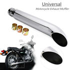 Universal 20 Motorcycle Cafe Racer Muffler Exhaust Pipe For Harley Racing Bike