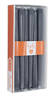 Grey Tapered Candles Long Burning for All Occasions sizes 10 12 14 1 Dozen