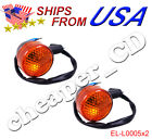 2x Turn Signal Light Moped Scooter Rear GY6 50 150cc 12V 2 Pin Wire Motorcycle