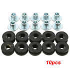 10x Motorcycle Black Rubber Grommets Bolt Kits For Honda Yamaha Kawasaki Fairing