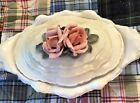 Vintage Karl ENS Porcelain Candy Side Compote Dish with lid Pink Roses Germany