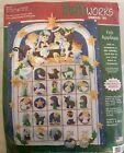 Dimensions Feltworks Nativity Advent Calendar Christmas Kit 8149 Sealed Pkg