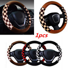15inch Car Steering Wheel Cover Soft Fur Plush Protector Cover Warm Cold Weather