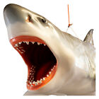Life Size Jaws White Shark Hanging Figure Sculpture Huge Giant 11 Foot Length
