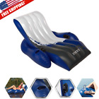Inflatable Floating Lounge Chair Recliner Float Pool Lake Swimming Cup Holders