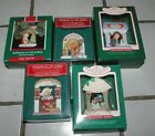 5 Windows of the World Hallmark Christmas Ornaments 1985-1989 In Original Boxes