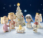 Lenox Peanuts Christmas Pageant Nativity Charlie Brown Snoopy 7 PC Figurine New