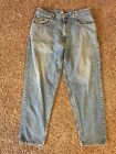 Tommy Hilfiger Vintage Retro Jeans Mens 36 32 Light Wash Baggy Flag