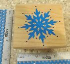GRAPHIC SNOWFLAKE MW RUBBER STAMP RUBBER STAMPEDE
