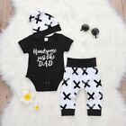 3pcs Newborn Toddler Infant Baby Boy Girl Clothes T shirt Tops+Pants Outfits Set
