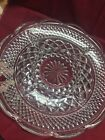 Anchor Hocking Wexford Clear Glass Divided Vegetable Appetizer Plate Platter