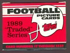 1989 Topps Traded Football Complete Set Barry Sanders ROOKIE CASE FRESH BOX