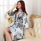 Sexy Print Female Robe Set 2 PCS Satin Rayon Bathrobe Women Kimono Bath Gown
