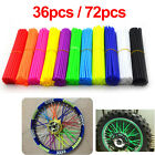 36pcs 72pcs Spoke Skins Covers Wheel Rim Protector Wraps For Motocross Dirt Bike