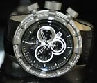 Invicta Men's Rare Bolt Reserve Swiss Chrono Black Dial Leather Watch 90001