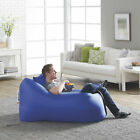 Fatboy Lamzac Stoel Inflatable Blow Up Portable Lounge Chair Sofa w Case Blue