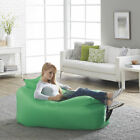 Fatboy Lamzac Stoel Inflatable Blow Up Portable Lounge Chair Sofa w Case Green