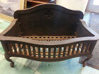 RARE VICTORIAN ERA Antique fireplace box insert iron/maltese cross coal/wood use