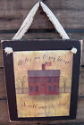 Joshua 24:15 Inspirational Hanging Wall Sign Plaque Primitive Rustic Lodge Cabin
