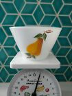 VINTAGE FIRE KING MILK GLASS RARE GAY FAD 6 1/2