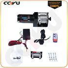 Fit 89-19 Jeep 3000lbs 12V Electric Recovery Winch Steel Cable Remote Control