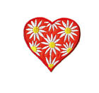 Heart Daisy Spring Love Embroidered Iron On Applique Patch Crafts