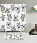 Cute Koala Baby 100% Polyester Fabric Shower Curtain Liner Bath Accessory Set
