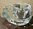 Sleeping Cat Glass Candy Dish