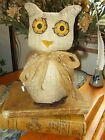 NEW PRIMITIVE COUNTRY BURLAP OWL 7