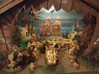 Vintage Nativity Scene Christmas Lighted Wooden Nice