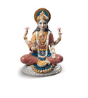 Lladro Hindu Goddess Sri Lakshmi Porcelain Figurine collectibleIndia Woman Idol