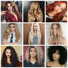 Afro curly/wavy/straight ombre Blonde Black 99j Bob Pixie Long Deep curly wig US