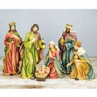 Large Traditional Christmas Nativity Scene Tabletop Holiday Decoration Set of