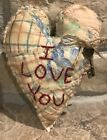 Primitive *I Love You* Key To Your Heart Quilted Valentine