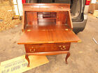 SECRETARY DESK drop front bent wood burl oak mahogany claw foot 30x18x43