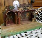 1940s RARE Vintage Christmas Wood Nativity CRECHE Stable Manger Western Germany