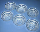 WEXFORD Glass Diamond Design Salad / Fruit / Ice Cream / Dessert Bowls Set of 6