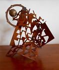 Brutalist Mid Century Modern Atomic Abstract Metal Sculpture