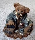 Charming Retired Boyds Bears & Friends Wilson the Professer Bearstone Figurine