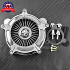Chrome Air Cleaner Gray Intake Filter For Harley Touring Trike 08 16 Softail 16