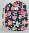 Mary Square 6227 Vintage Floral Bible Cover Handle Pocket Hot Pink Inside Zip Up